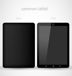 Common Black tablet vector image vector image