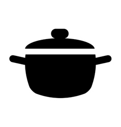Cooking pot kitchen food pictogram vector