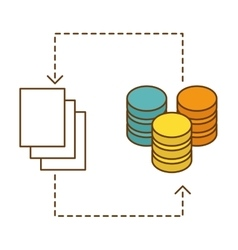 Distributed database icon image design vector