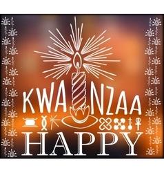 Festival kwanzaa holiday card vector