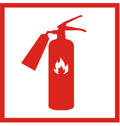fire extinguisher icon isolated on background vector image vector image