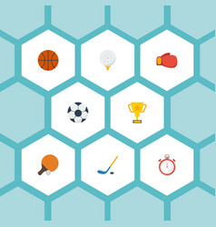 flat icons ball basket boxing and other vector image vector image