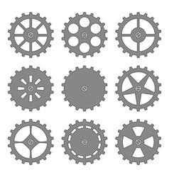 gears and cogs set vector image vector image