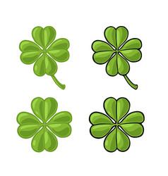 good luck four leaf clover vintage color vector image