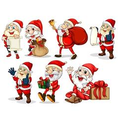 Happy Santas vector image vector image