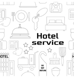 Hotel service pattern vector image vector image