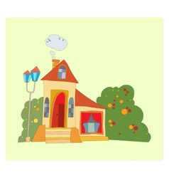 house with big windows vector image