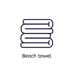 icon of beach towel on a white background vector image vector image