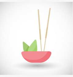 incense burning flat icon vector image
