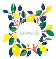 Lemonade label - bright design vector image vector image