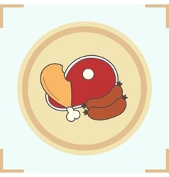 Meat products icon vector image