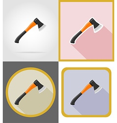 Repair tools flat icons 09 vector