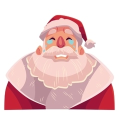 Santa claus face crying facial expression vector