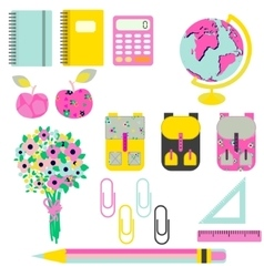 School supplies clip art stationery objects vector