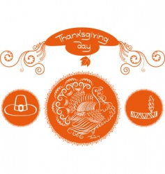 thanksgiving symbols vector image vector image