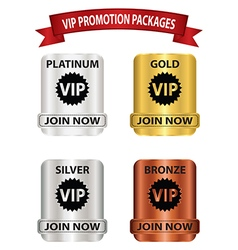 Vip promotion package buttons vector