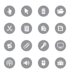 Web icon set 3 on gray circle vector
