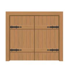 wooden door gate interior apartment closed double vector image