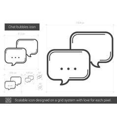 Chat bubbles line icon vector
