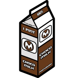 Chocolate milk vector