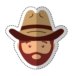 Farmer avatar character icon vector