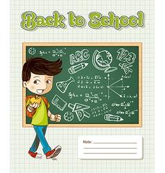 Back to school education cartoon kid vector image