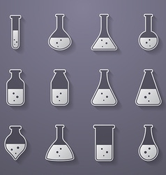 Chemical biological science laboratory equipment - vector
