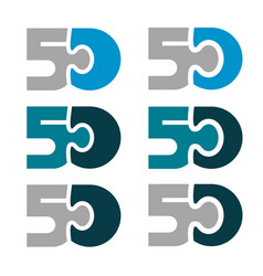 50 fifty puzzle linked number vector