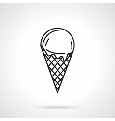 Ice cream black line icon vector
