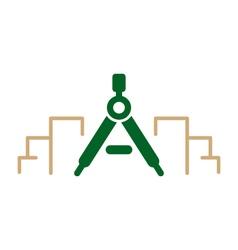 Modern architecture logo vector