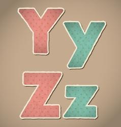 Paper alphabet vector image