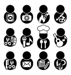 Occupations icon symbol vector