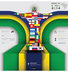 Road to brazil 2014 football tournament vector