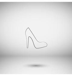 Elegant high heel shoe icon vector
