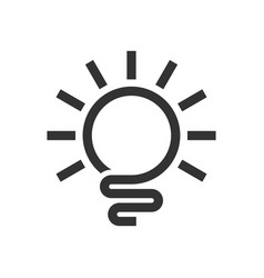 Abstract light bulb line art logo symbol design vector