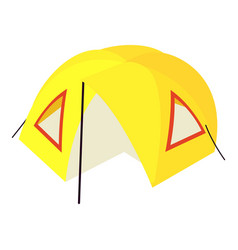 Camp tent icon isometric 3d style vector