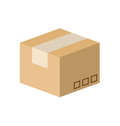Carton box isometric design vector