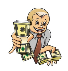 cheerful businessman vector image vector image