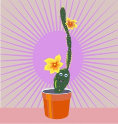 cheerful cactus vector image vector image