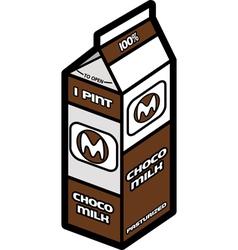 Chocolate milk vector image