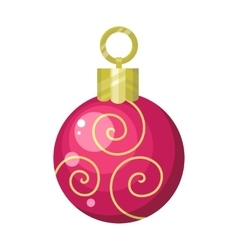 Christmas tree toy flat style vector