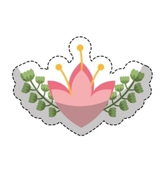 Cute floral wreath decorative vector