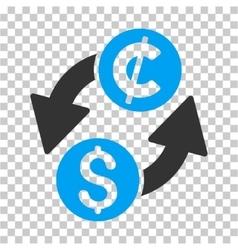 Dollar cent exchange icon vector