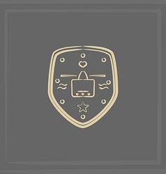 Emblem of an airplane vector