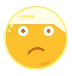 Emoji of frown face in flat design icon vector