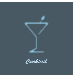 glass of martini vector image