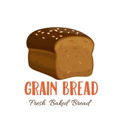 Grain bread icon vector