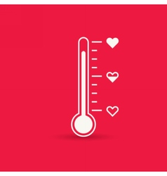 Heart thermometer icon love card vector