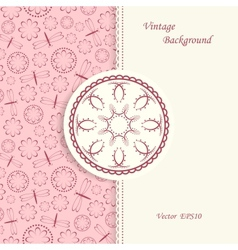 Lace background in vintage style vector image