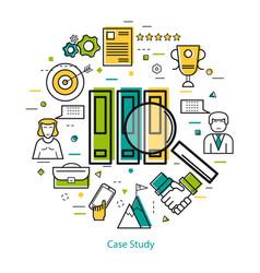 Line art concept - case study vector